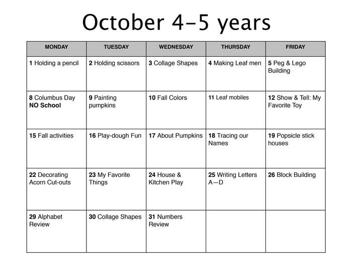 Fall Lesson Plans  BesikEightyCo