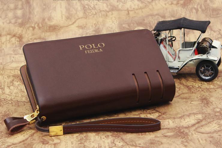 POLO FEIDKA Leather   Clutch Bag   Men Long Wallet   Hand Carry Bag ... 67ef101b80ea3