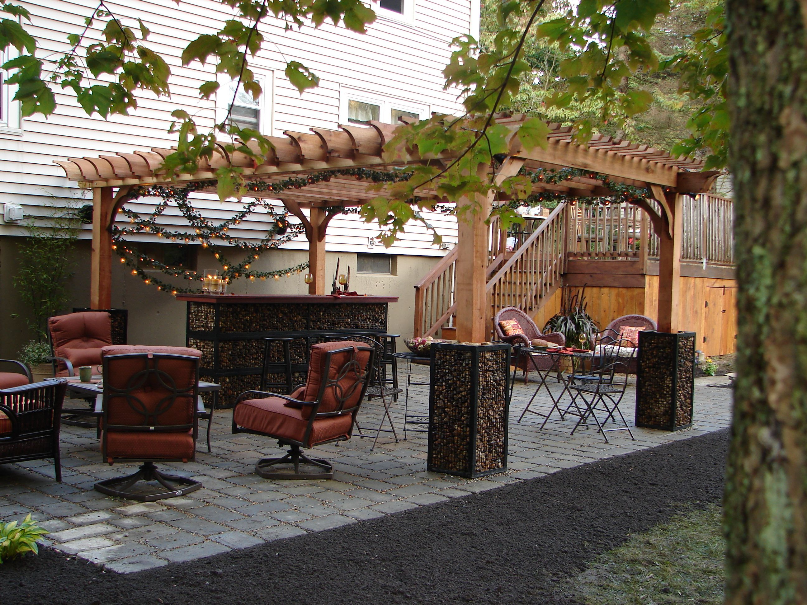 boston gabion garden room cedar big kahuna pergola kit this one was featured - Pergola Kit