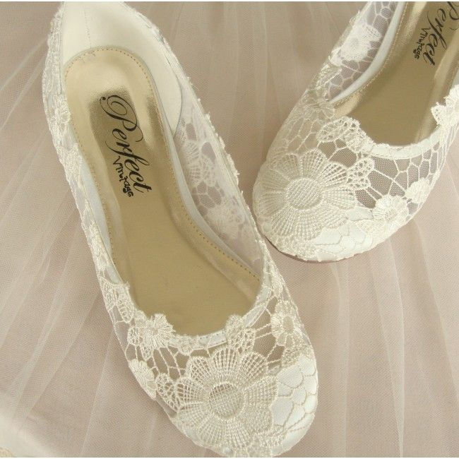 Emejing Lace Flat Wedding Shoes Contemporary - Style and Ideas ...