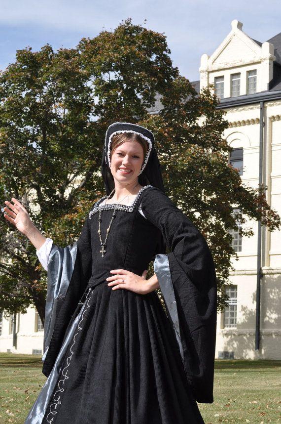 Renaissance Boleyn Court Tudor dress costume with 6 by MattiOnline, $574.95