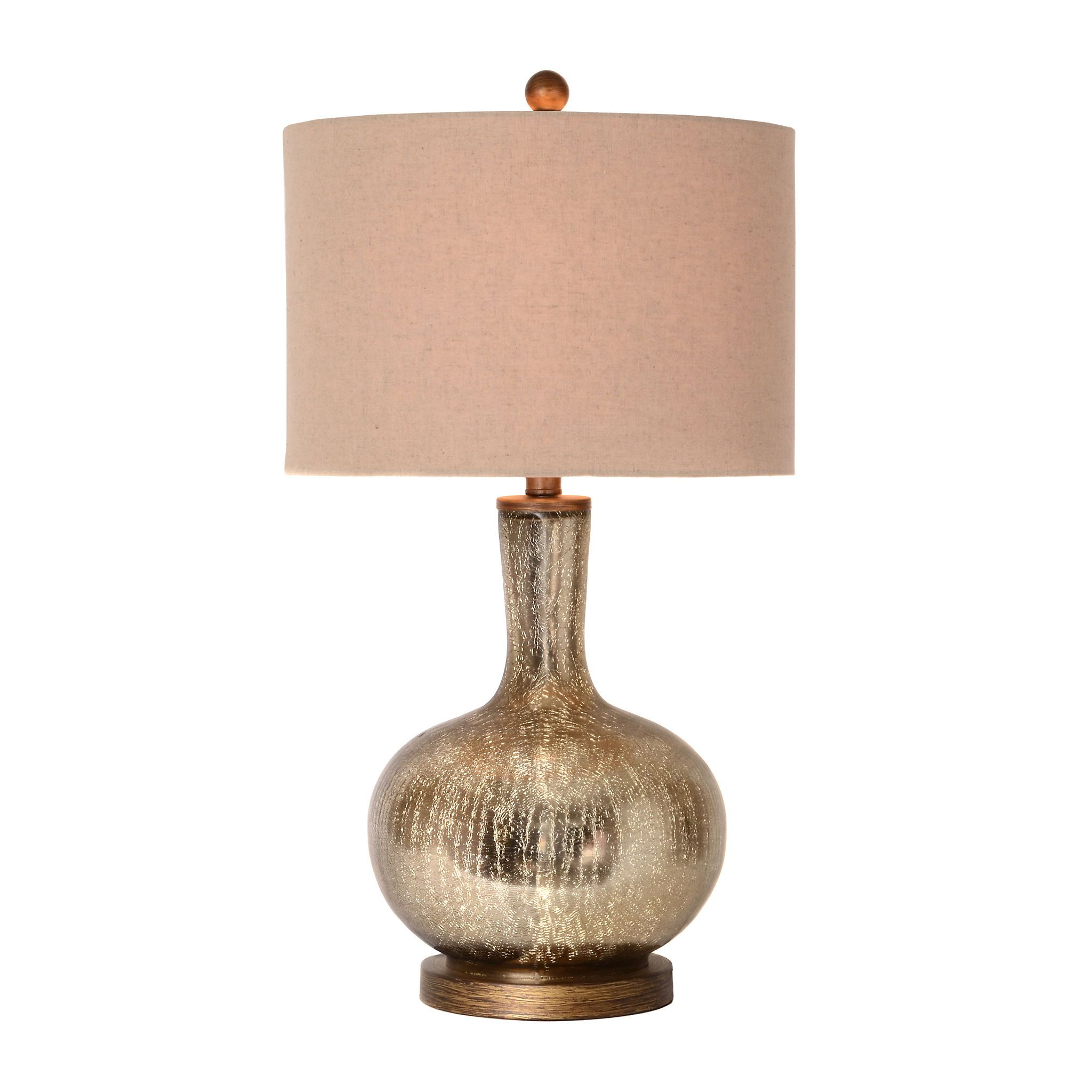 Dynia Gold Crackle Mercury Glass Table Lamp Kirklands