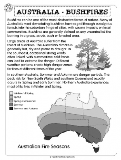 Australia Bushfires Teacher resources, School