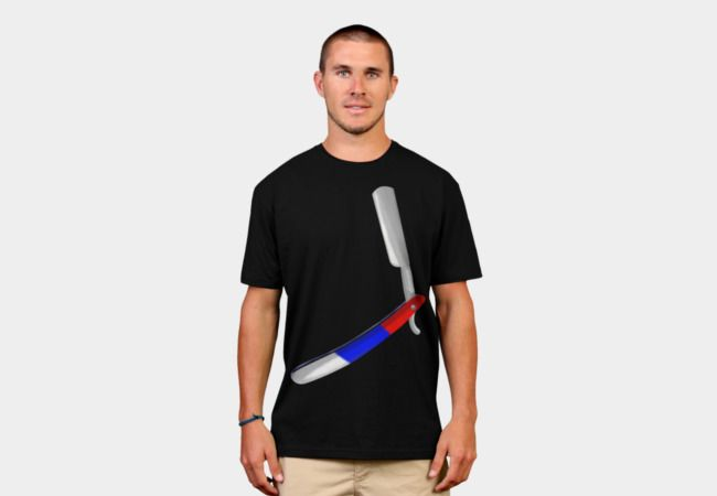 Straight razor Barbers Shop T-Shirt - Design By Humans