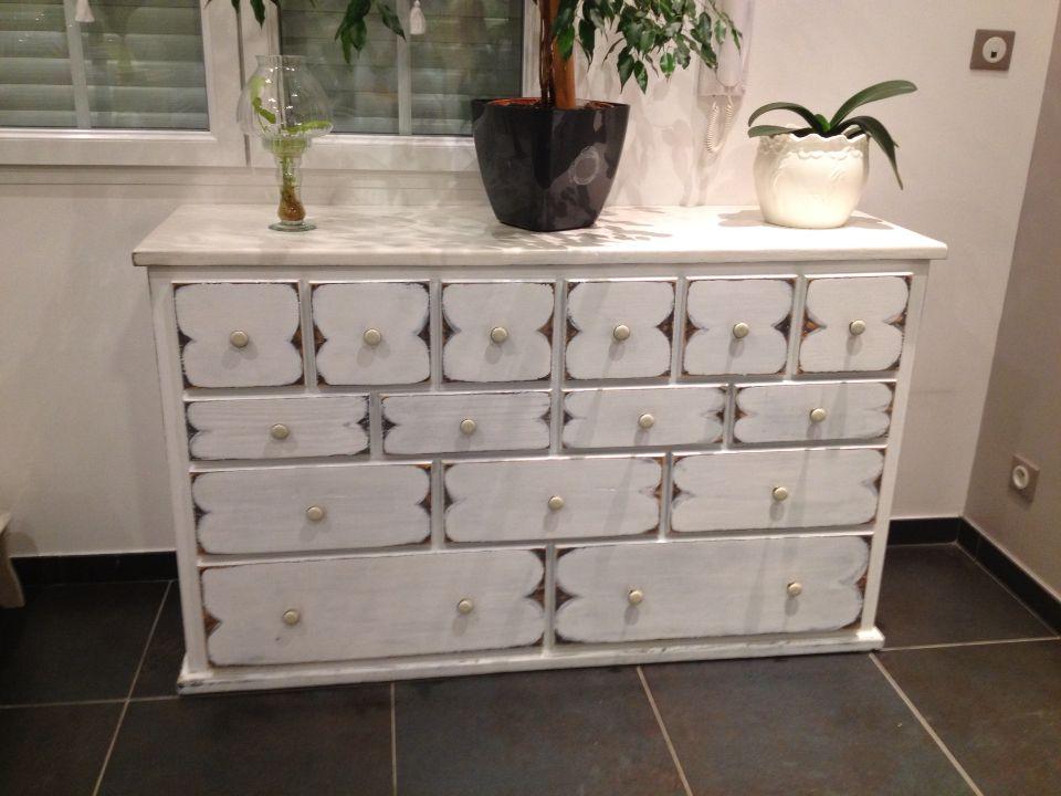 Meuble 15 tiroirs peint en trompe l 39 il meubles peints tiroirs peints mobilier de salon et - Meuble trompe l oeil ...