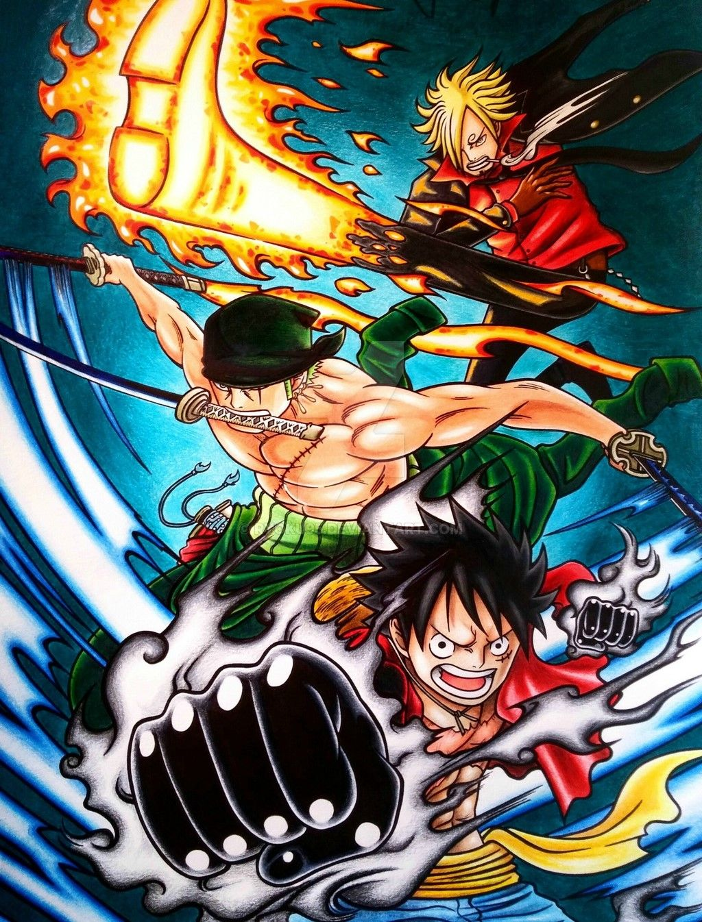 Luffy Zoro & Sanji Vs Meliodas Ban & King Battles em 2020