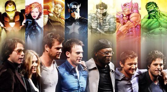 Marvel the avengers actors
