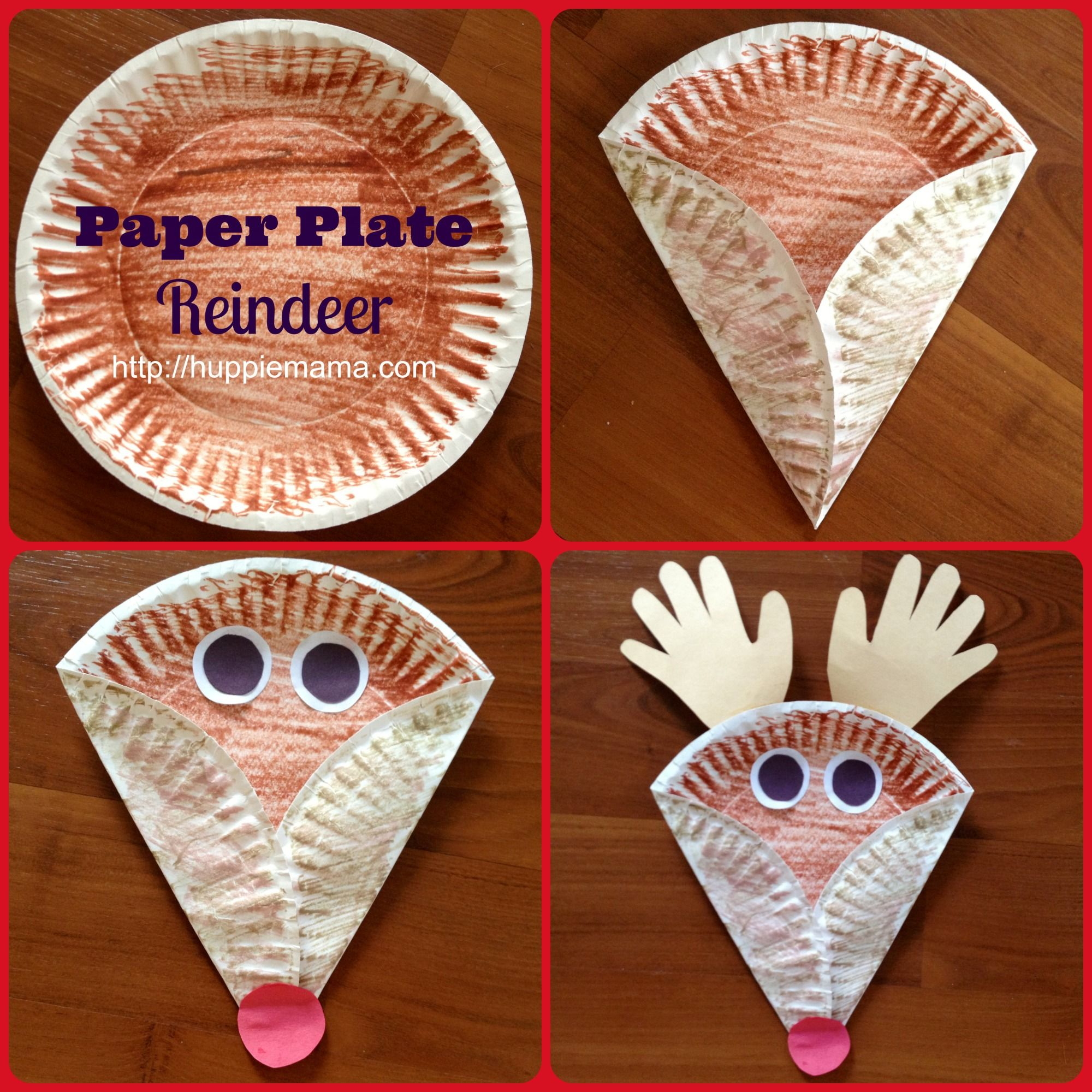 Christmas Kids Craft: Paper Plate Reindeer | Christmas ...