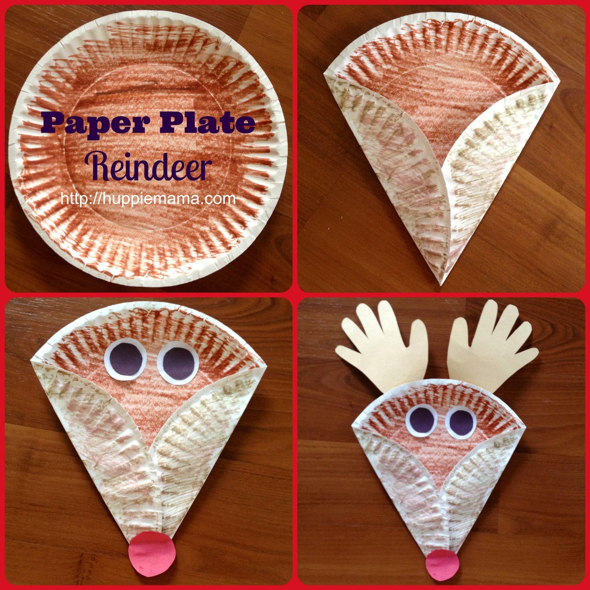 Christmas Kids Craft Paper Plate Reindeer