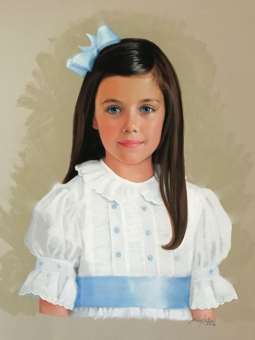 Pastel portrait of an Atlanta child