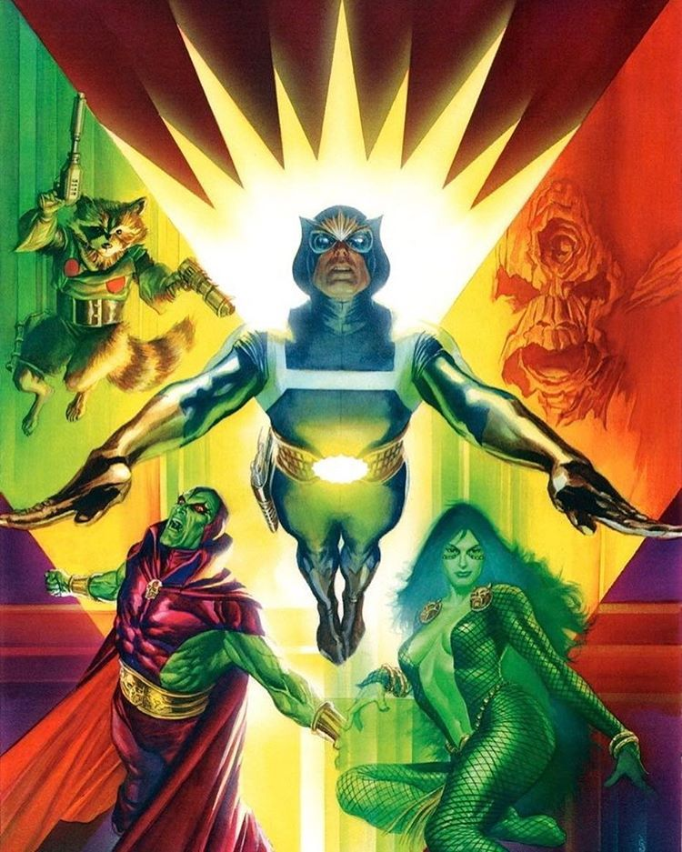 Original Guardiansofthegalaxy Guardiansofthegalaxy Alex Ross Guardians Of The Galaxy Marvel Comics Art