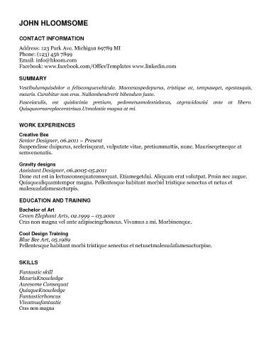Free Resume Download In Depth  Microsoft Word Format  Jobs