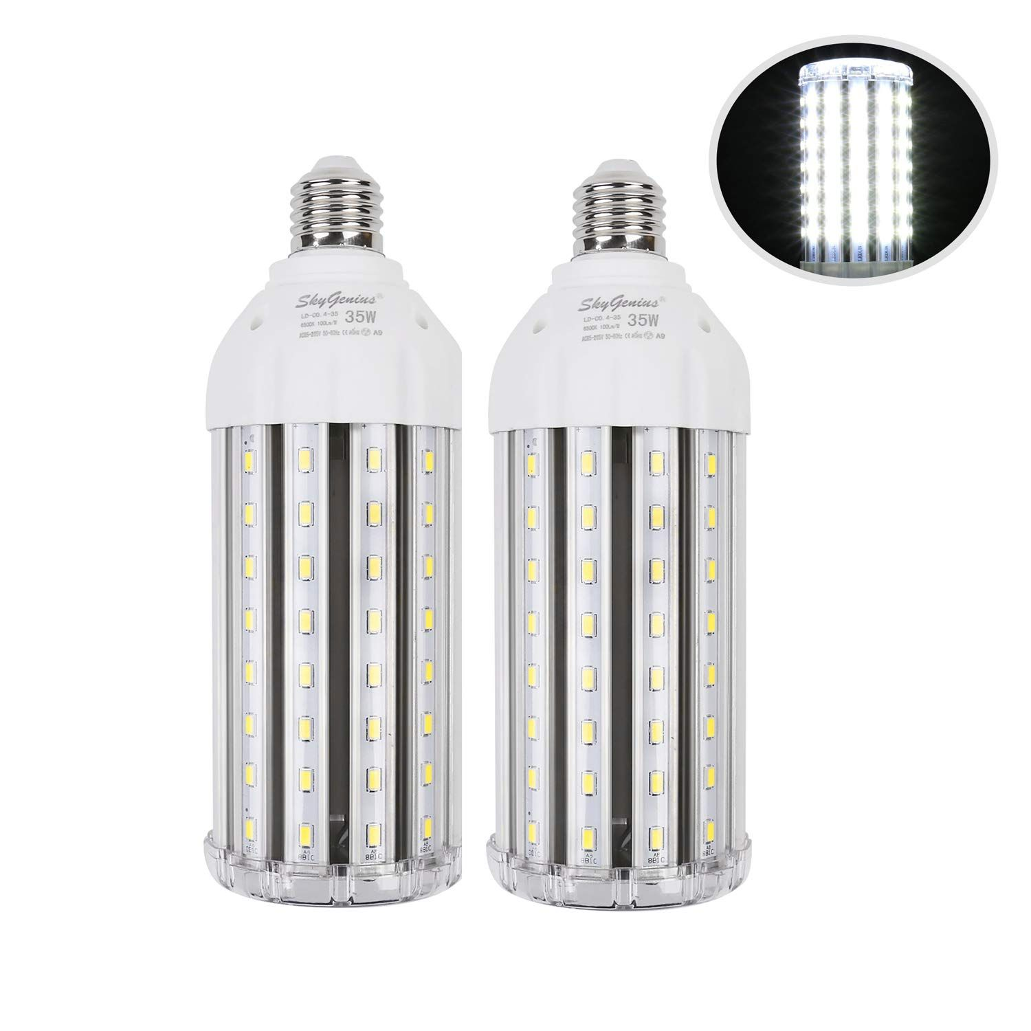 35w Super Bright Led Corn Light Bulb For Garage E26 High Output 3500lm 6500k Daylight Led Corn Bulb 300 Watt Equivalent For Bulb Globe Light Bulbs Light Bulb