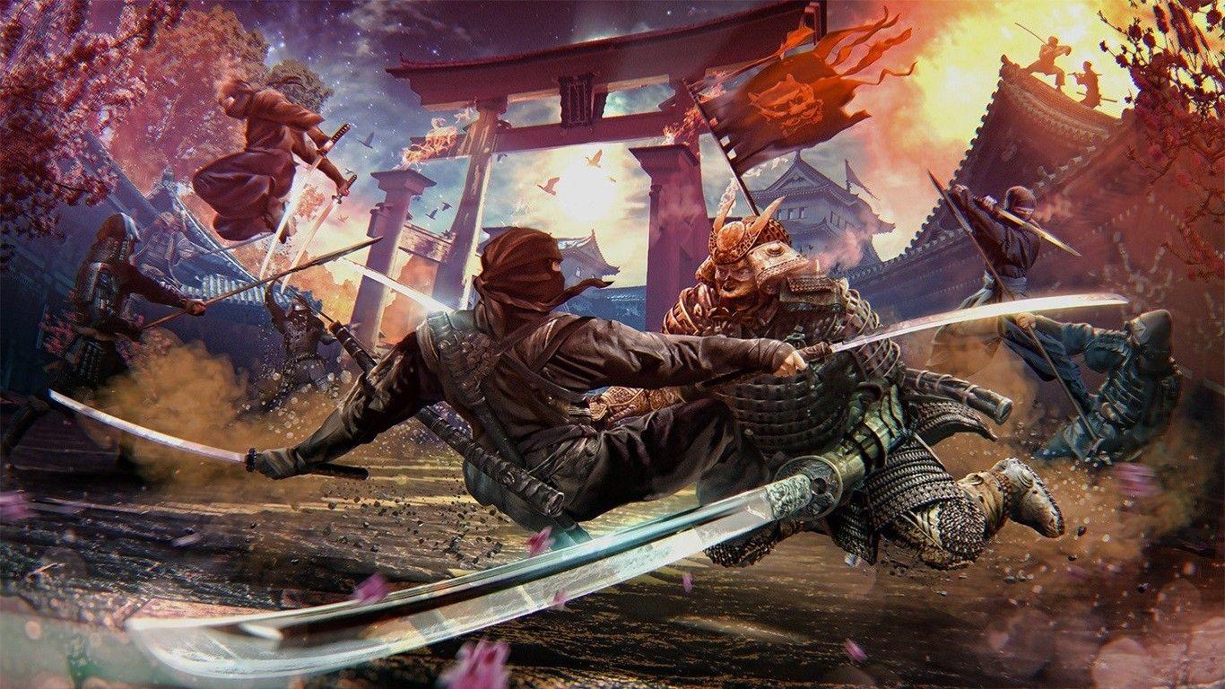 Digital Art Fantasy Art Artwork Samurai Ninjas Battle