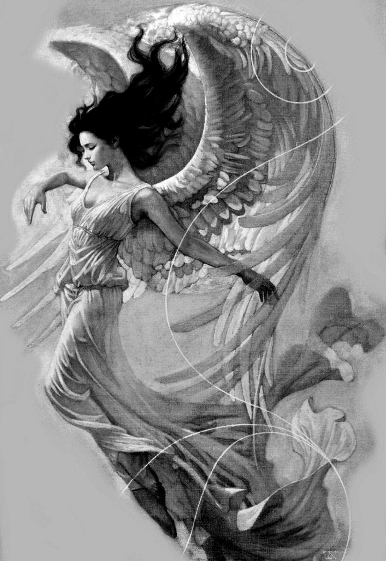 Ange Gardien Protecteur Tatouage a dreamer dreams she never dies.. | idées de tatouages