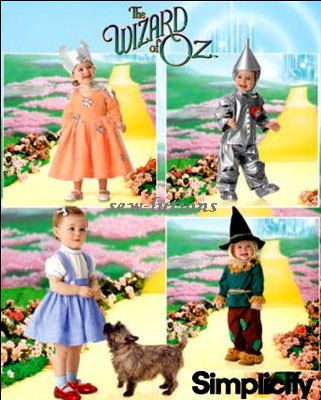 WIZARD OF OZ Costume Sewing Pattern - Toddler & Child Dorothy ...