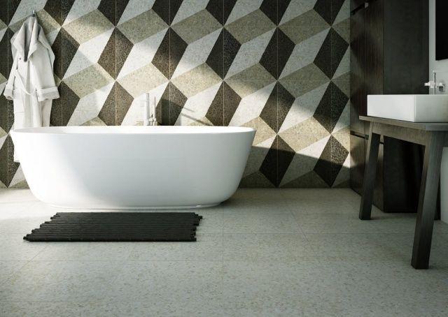 Badezimmer mit urbanem Flair Wohnideen Pinterest Badezimmer - muster badezimmer