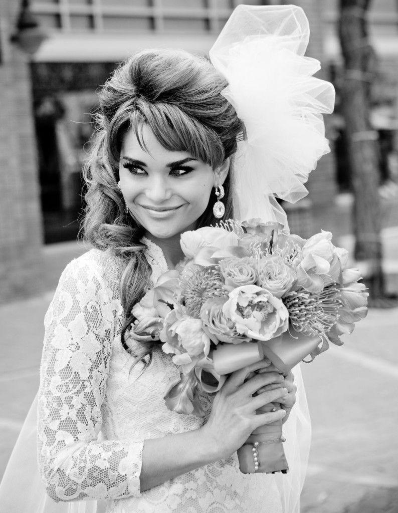 1960s-inspired-bridal-hair-makeup-vintage-wedding-10 | Black and ...
