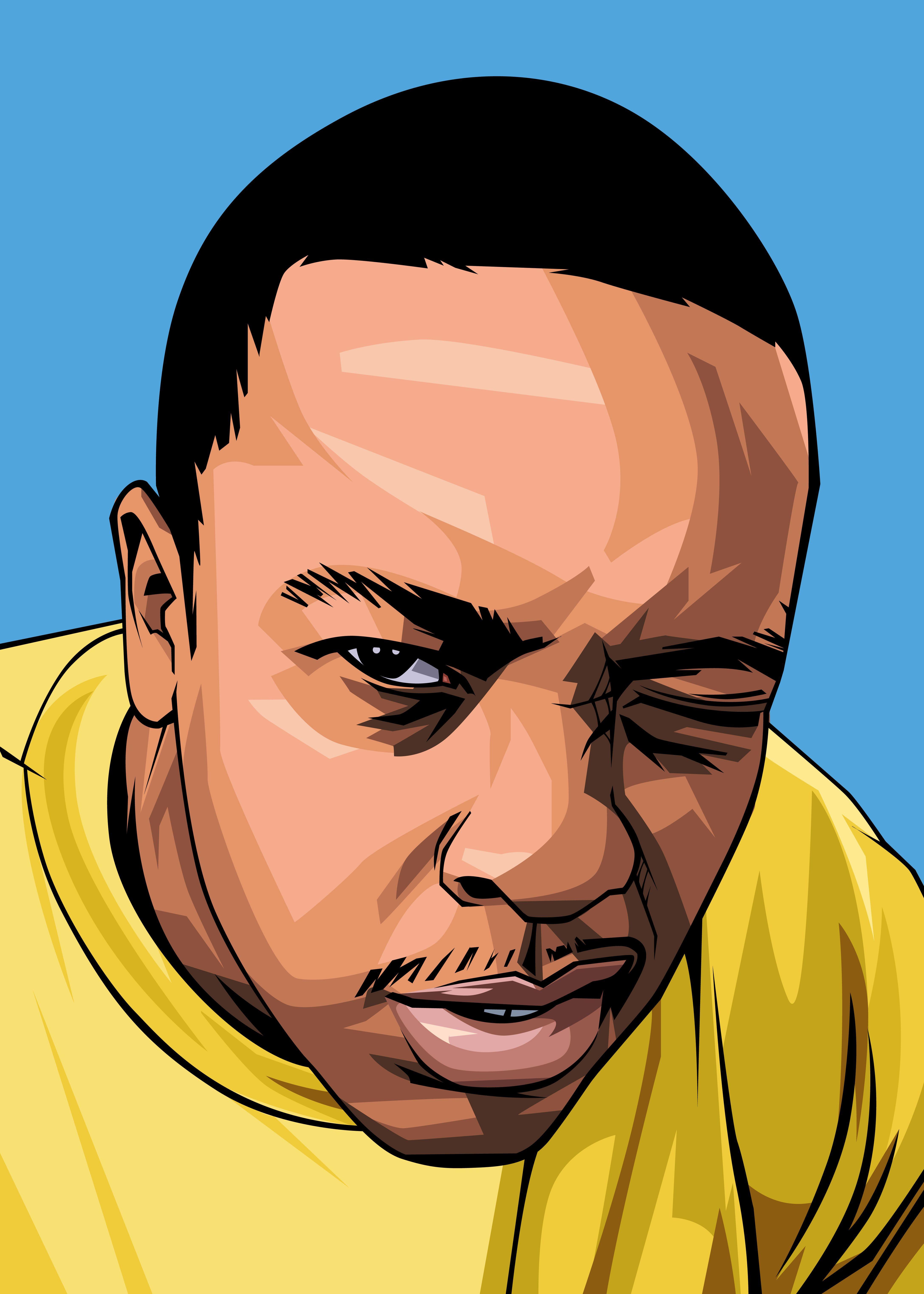 Digital portrait illustration of dr dre by sutrisnodraw