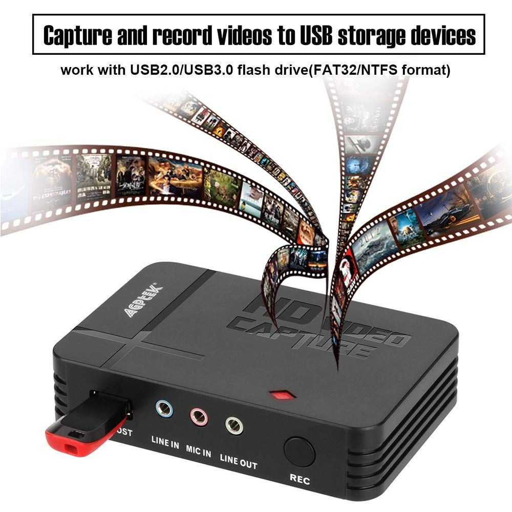 Amazon com: AGPtEK HD Game Capture Video Capture 1080P HDMI