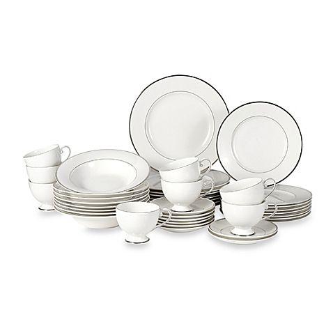 Mikasa® Cameo Platinum 40-Piece Dinnerware Set  sc 1 st  Pinterest & Mikasa® Cameo Platinum 40-Piece Dinnerware Set   bridal registry ...