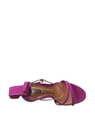 Schutz Women's Nelly Ankle Strap Sandal (True Pink)