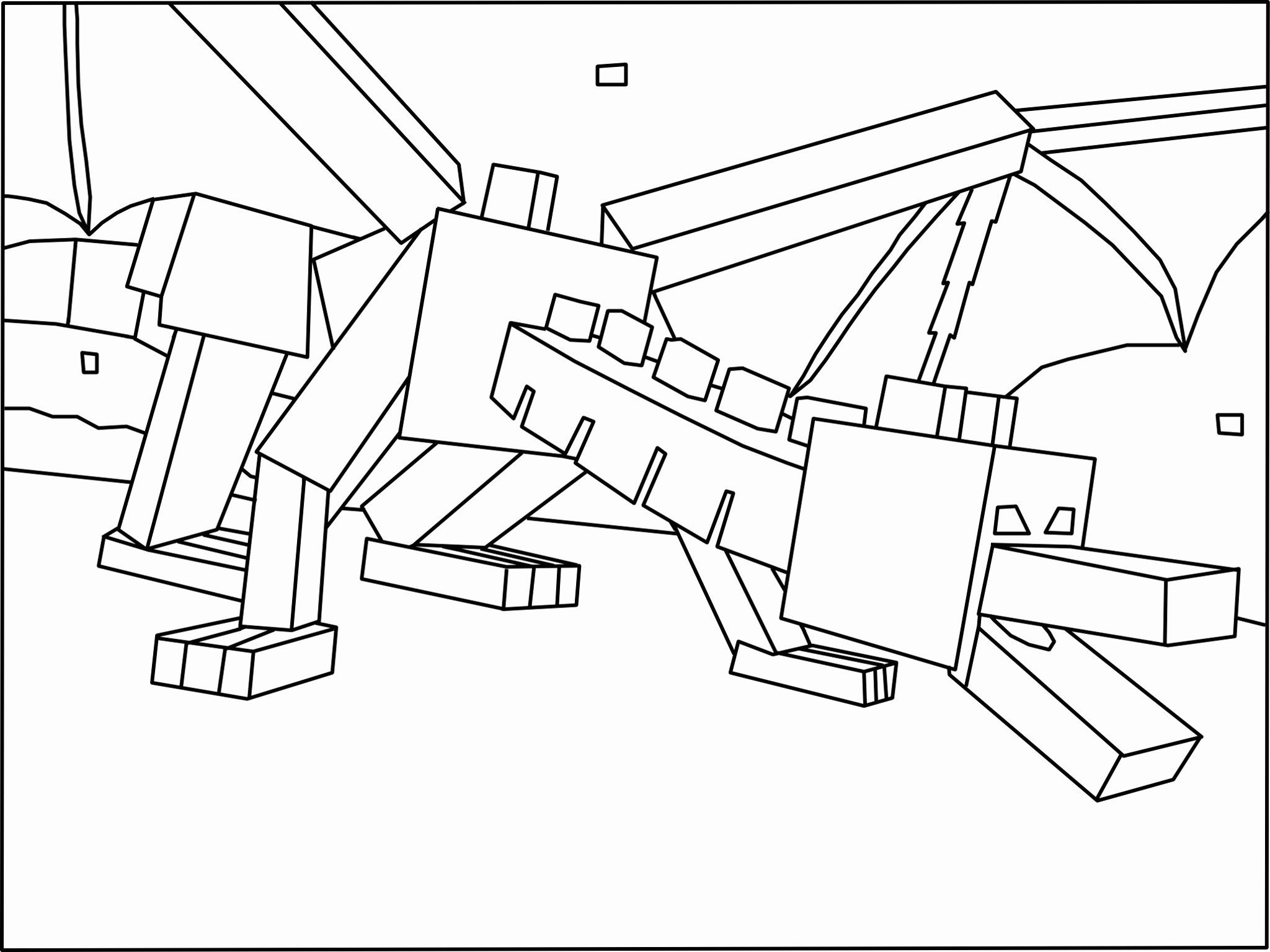 Ender Dragon Enderman Minecraft Coloring Pages Novocom Top