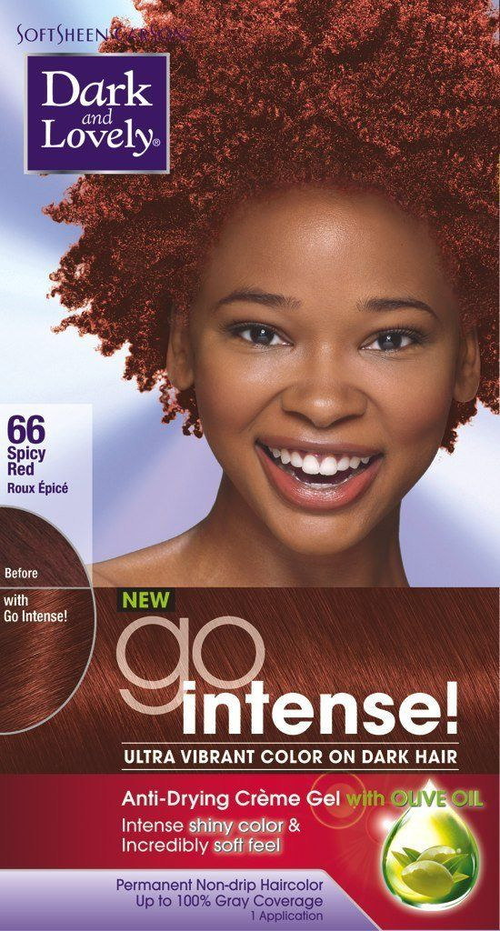 Dark And Lovely Go Intense 66 Hair Color Spicey Red Kit Pack