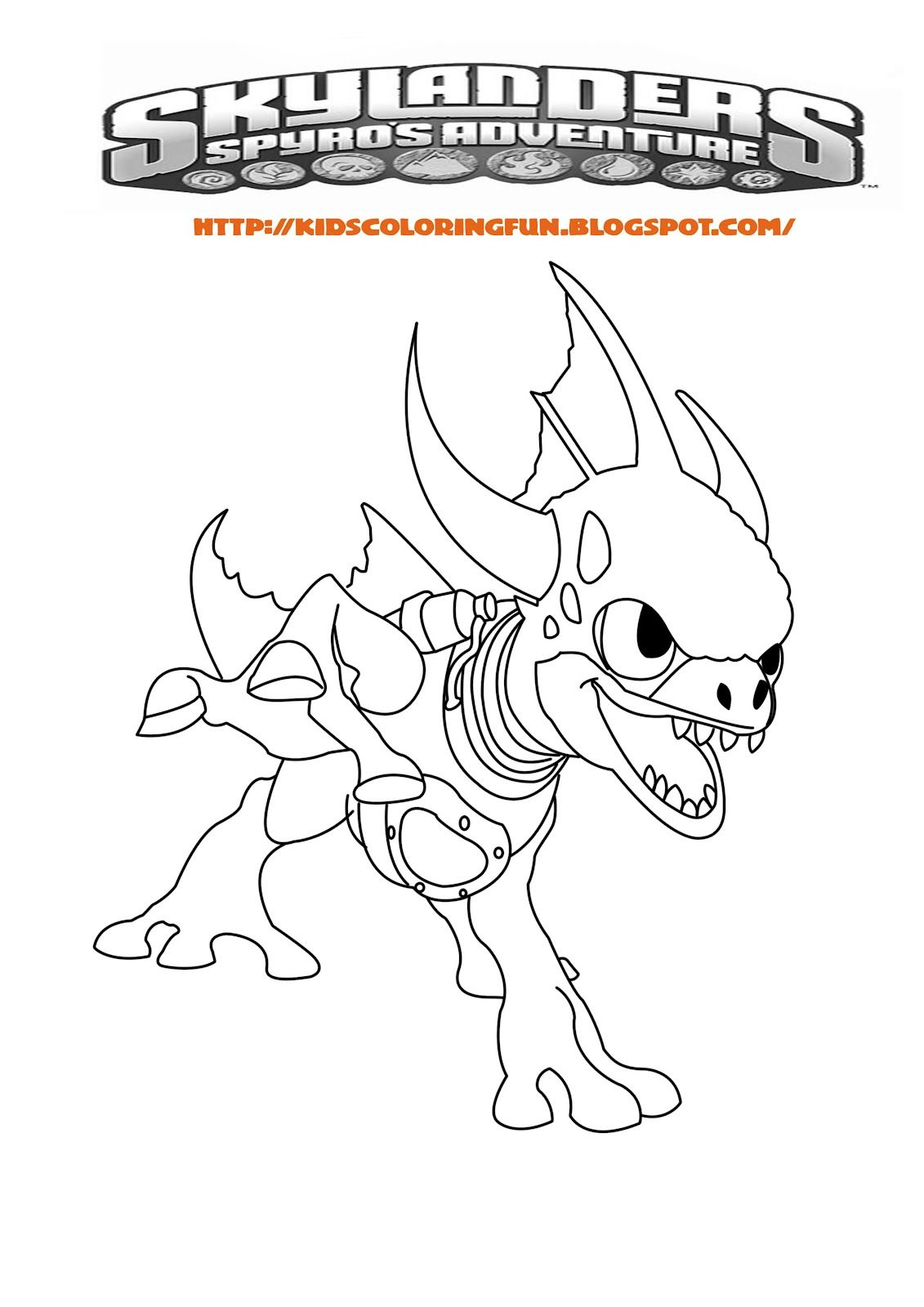 Zap Coloring Page Skylanders Coloring Pages Coloring Pages