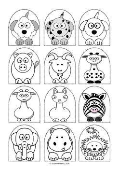 Stick puppet templates - Animals and People   Craft sticks, Puppet ...
