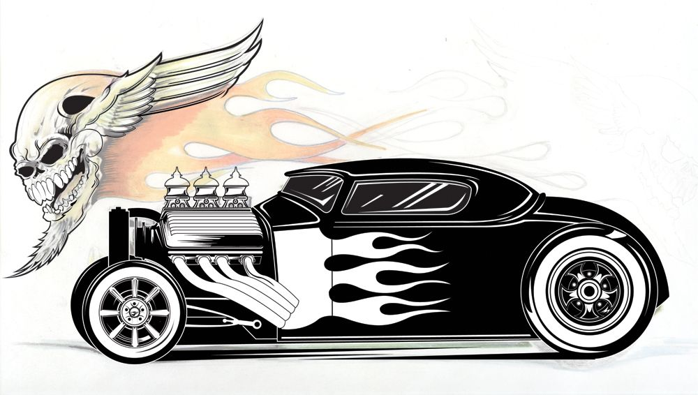 Cool Hot Rod Coloring Pages Latest Illustration DAP of