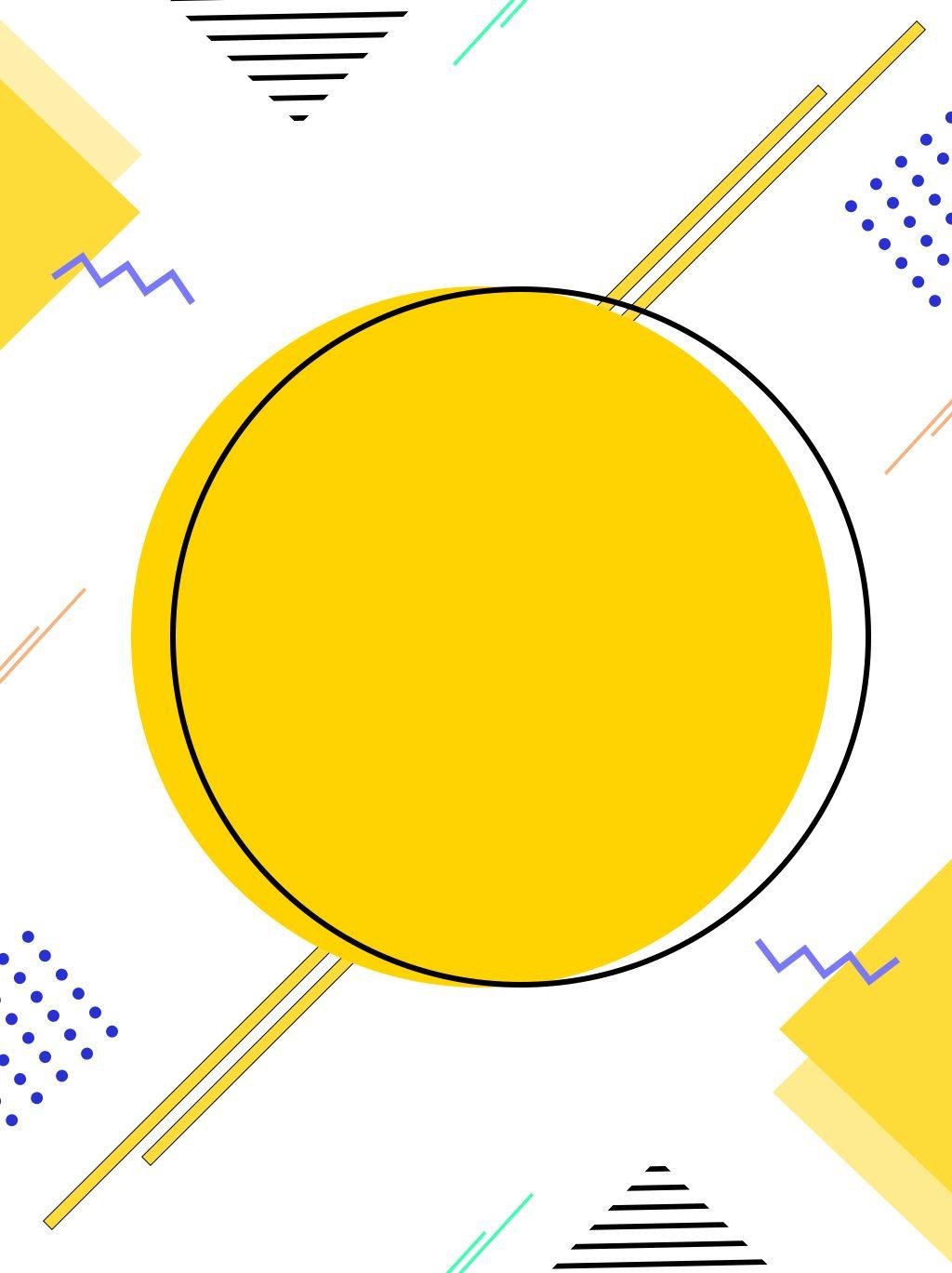 Creative Minimalist Yellow Round Memphis Background Background Design Poster Background Design Powerpoint Background Design
