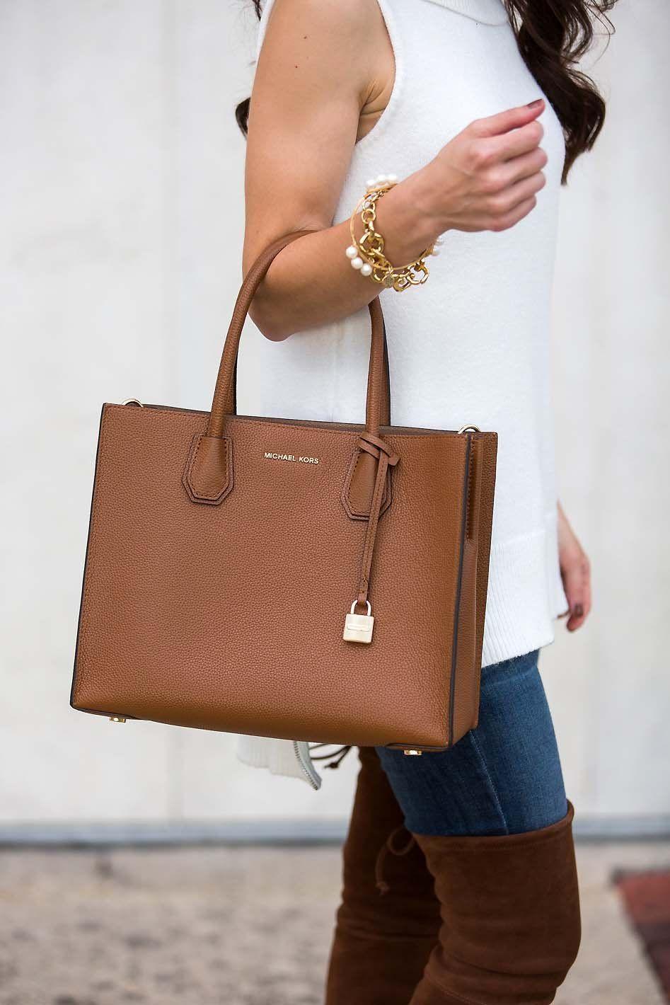 c68748084 Ivory Sleeveless Sweater | Lipgloss & Labels | Handbags michael kors ...