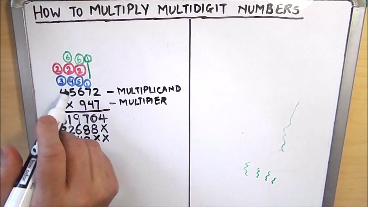 How To Multiply Two Numbers Multiplication Multi Digit Multiplicatio Multi Digit Multiplication Math Videos Multiplication [ 720 x 1280 Pixel ]