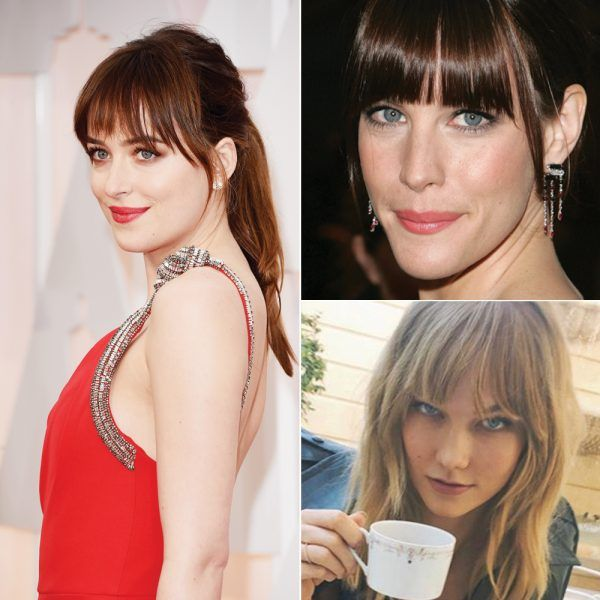 "- ""This shape is a great fit for straight-across bangs and blunt textured bangs. Straight bangs help widen the appearance of a long face and emphasize the eyes. Another option is sideswept bangs that cover the forehead. This length hits around the cheekbone, broadening the face.""Celebrity inspo: Eva Longoria, Liv Tyler, Rosie Huntington-Whiteley, Dakota Johnson."