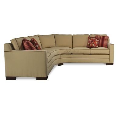 This Eye Catching American Made Sectional From Vanguard Furniture Is As Nice They Come Complete With Hand Tied Springs And Kiln Dried Hardwood Frames