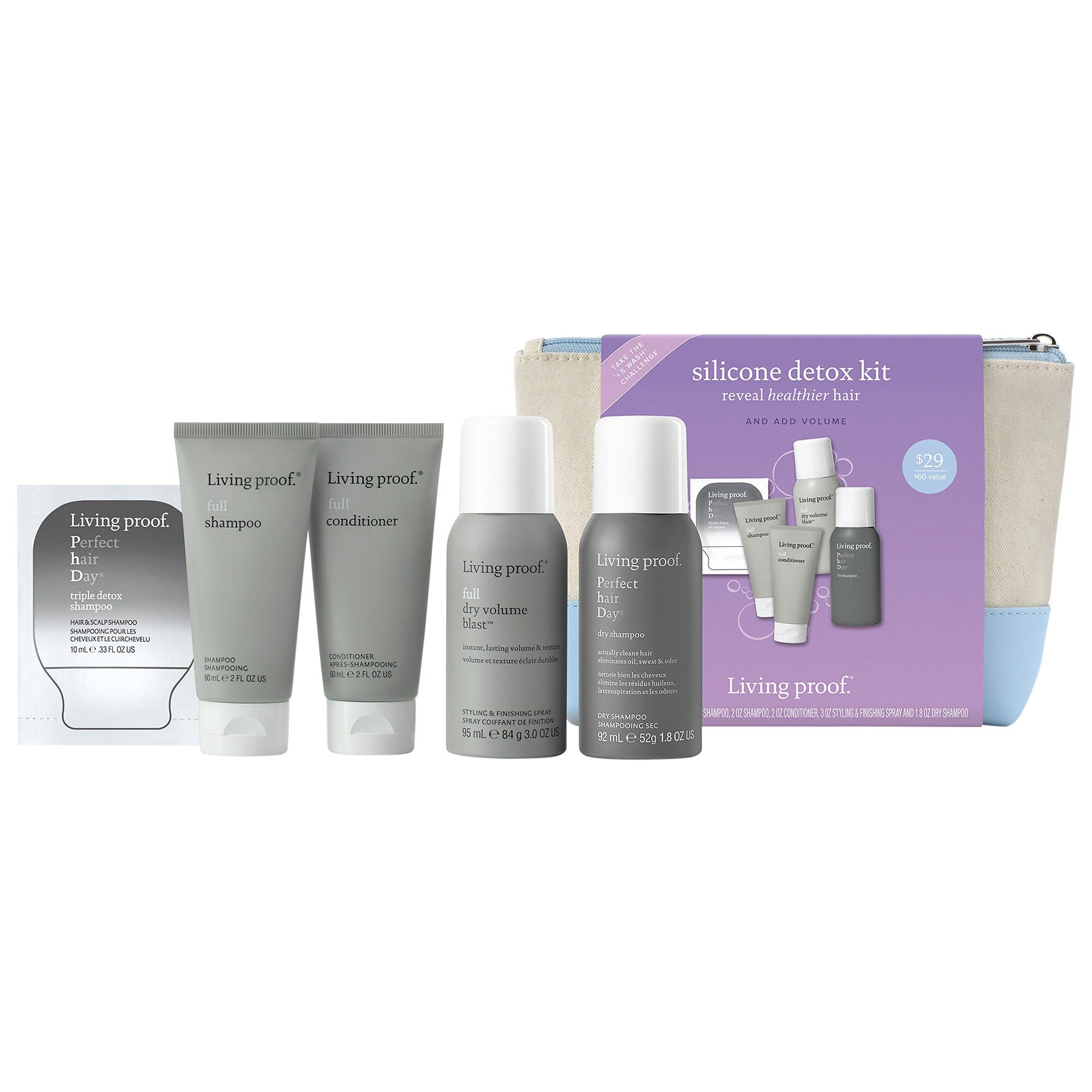 Living Proof Full Silicone Detox Kit Detox Kit Perfect Hair Shampoo Living Proof