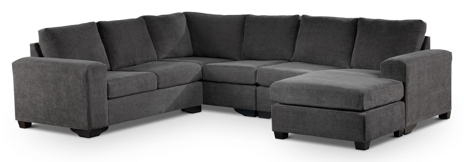 Danielle Upholstery 3 Pc Sectional Leon S 1699 Height 36 Depth