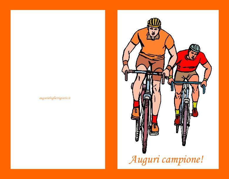 auguri compleanno con ciclisti