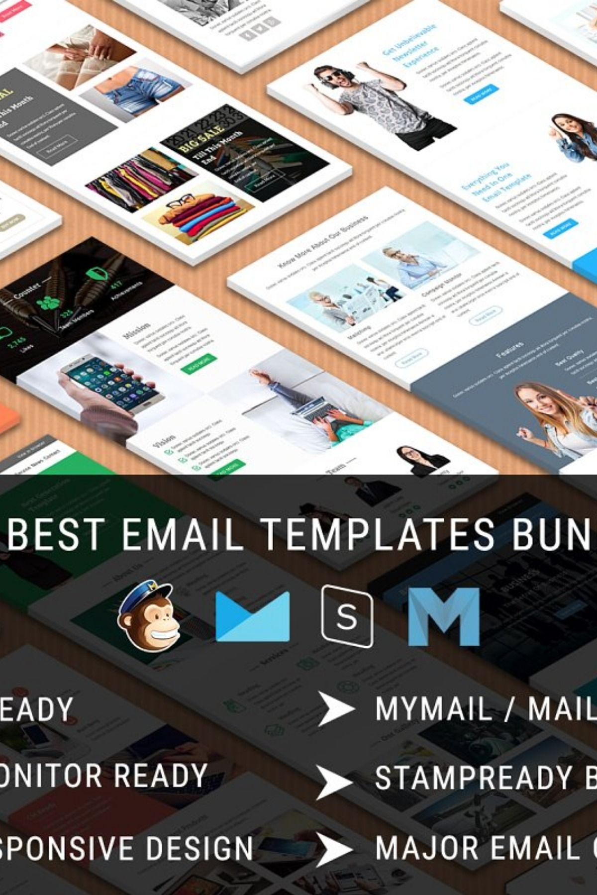 20 Best Email Templates Bundle 10 Email Templates Best Email