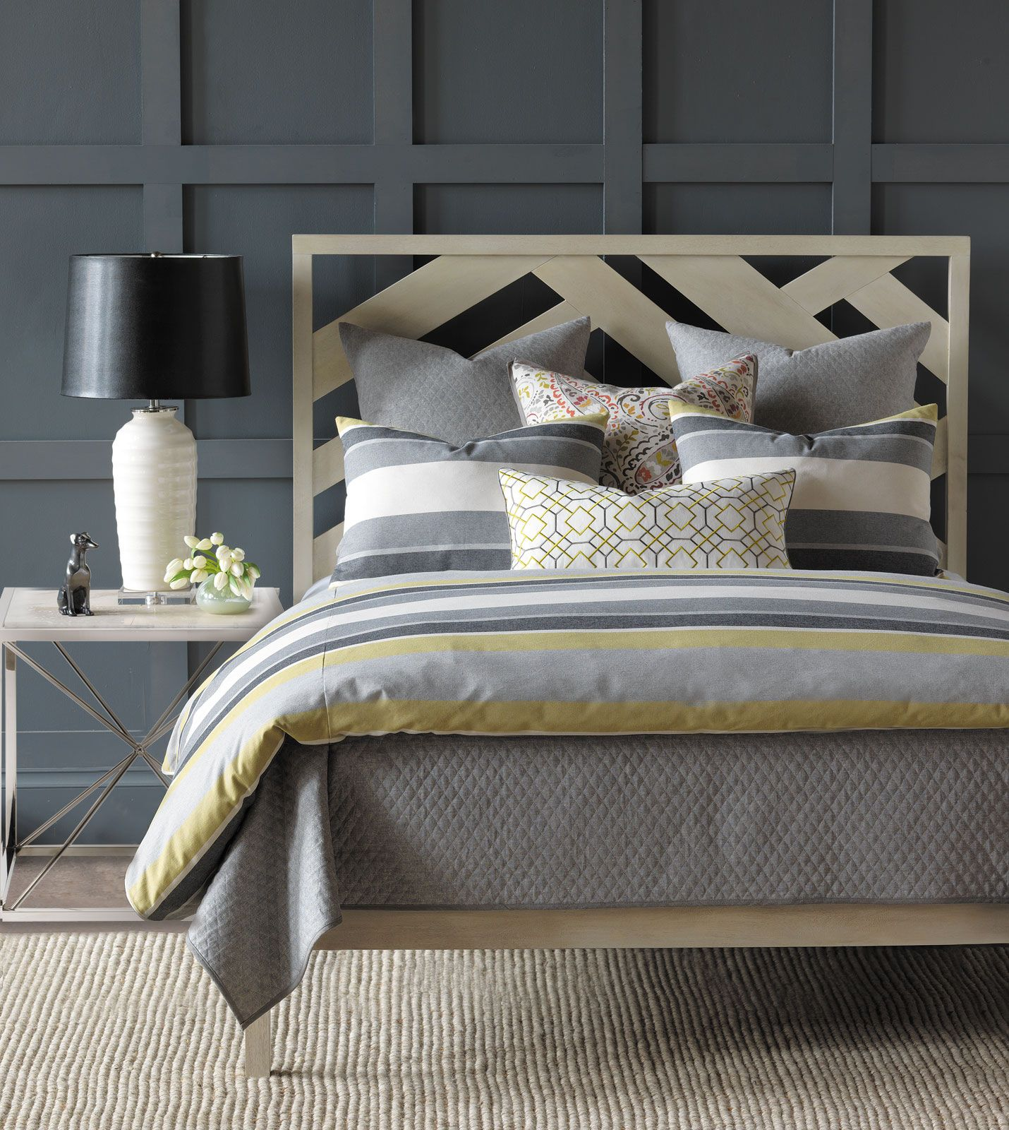 thom filicia luxury bedding by eastern accents wainscott citron collection