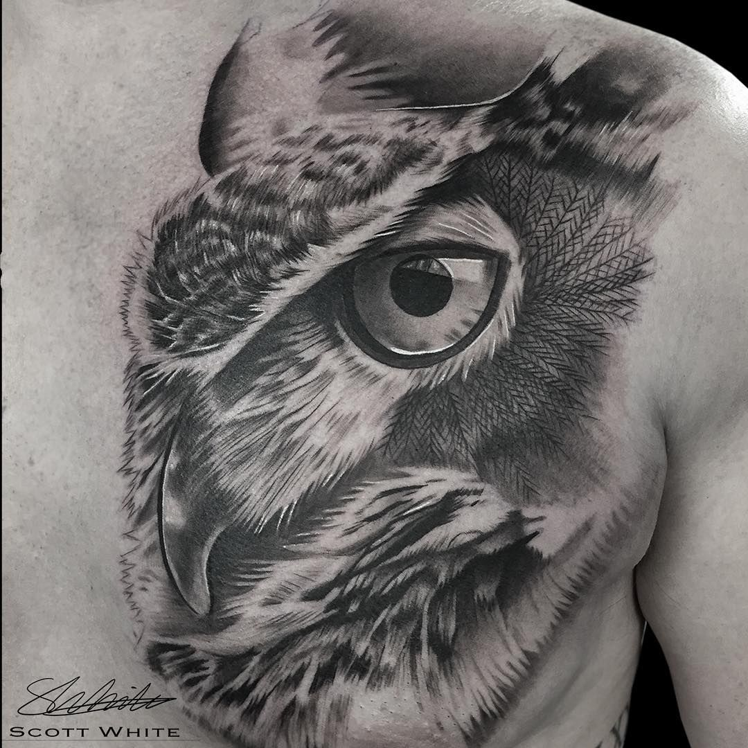 Scott White Tattoo artists, Grey tattoo, Realism tattoo