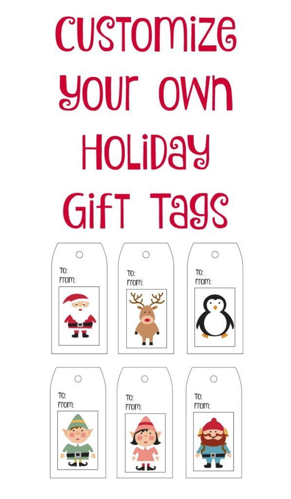 picture relating to Free Printable Customizable Gift Tags identify Present Wrap 101 In addition Totally free Customizable Present Tags - Vacations