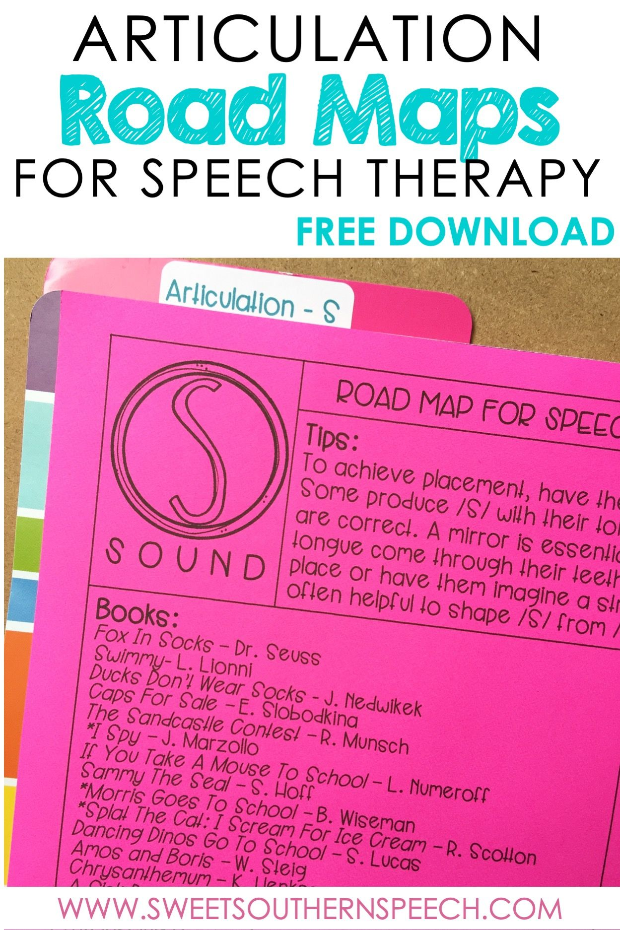 Articulation Books For Speech Therapy S And Z Sounds