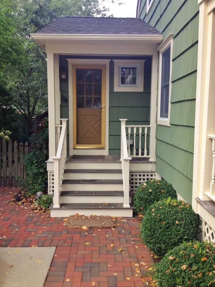 Exterior Side Entrance Cape Cod Remodeling Pics