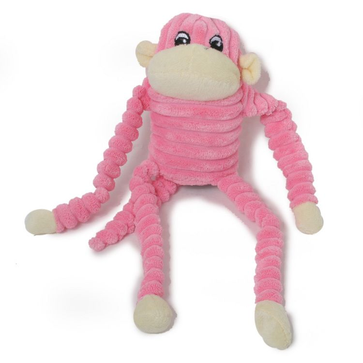 Pink Monkey Dog Toy Snuggle Up With This Adorable Pink Monkey
