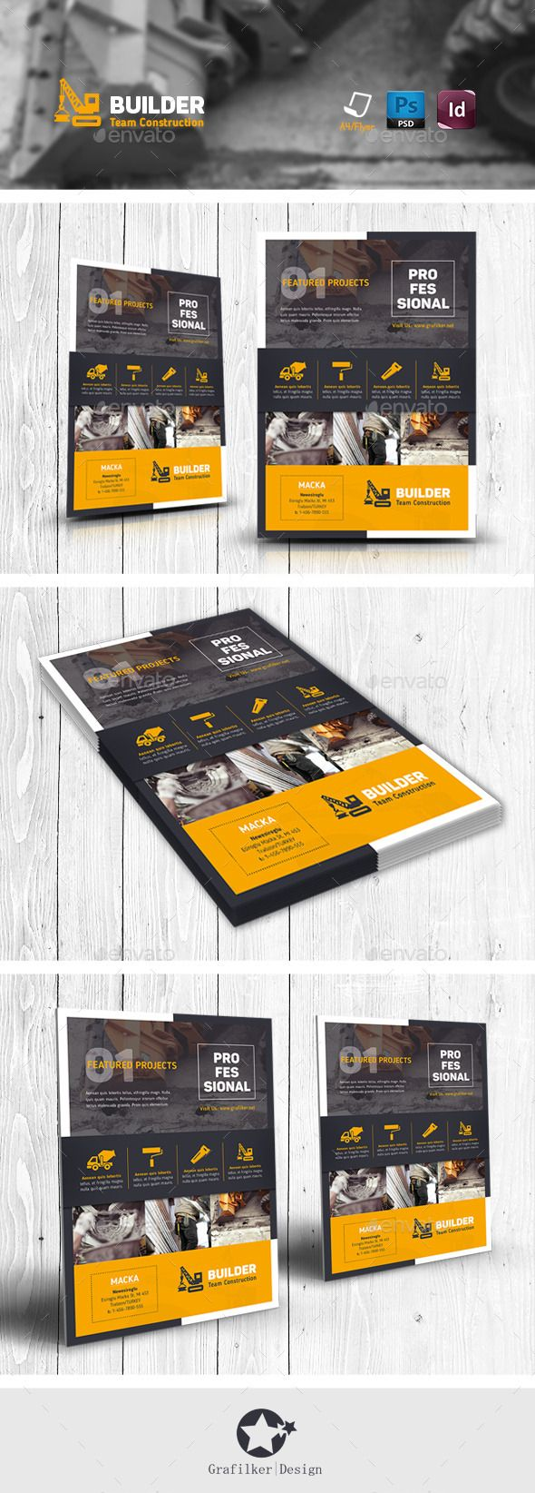 Construction Flyer Templates Flyer Template Brochures And - Construction brochure templates