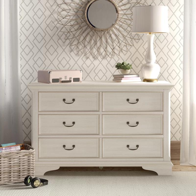 Willsbridge 6 Drawer Double Dresser In 2021 Double Dresser Furniture Dresser As Nightstand