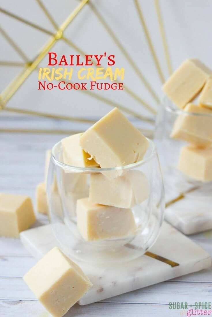 Photo of White Chocolate Bailey's No-Cook Fudge – for Grown-ups Only!