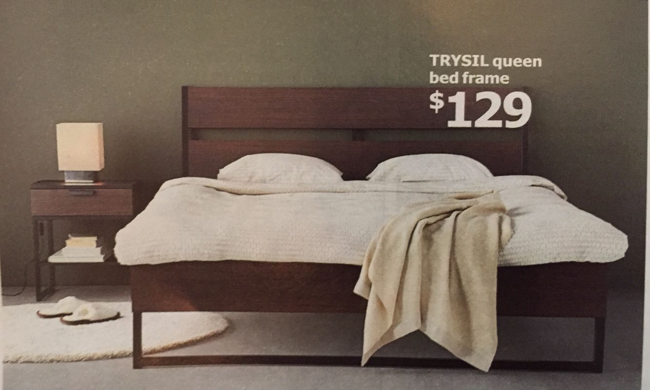 IKEA Trysil Bed Frame Also comes in white. $129 | Into the Future